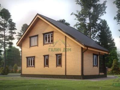 Картинка (4) Проект дома из бруса 7х10 (ДБ-23)