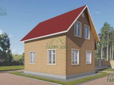 Картинка (4) Проект дома из бруса 7х7,5 (ДБ-30)