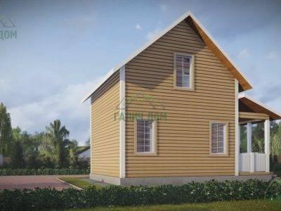 Картинка (4) Проект дачного дом из бруса 8х7 (ДБ-41)