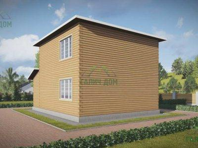 Картинка (4) Проект двухэтажного дома 8х8 (ДБ-69)