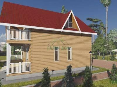 Картинка (2) Брусовой дом 8х8 с балконом (ДБ-94)