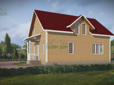 Картинка (4) Проект брусового дома 9х10 с кукушкой (ДБ-50)