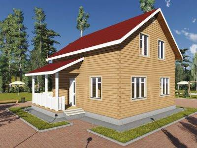 ДБ-85 | Проект брусового дома 9 на 10