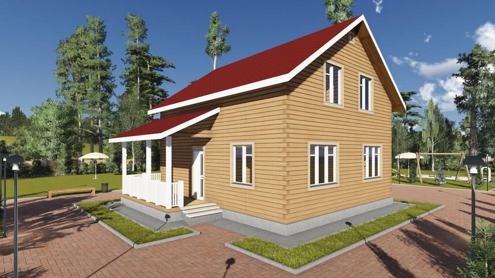Картинка (1) Проект брусового дома 9 на 10 (ДБ-85)