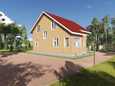 Картинка (4) Проект брусового дома 10х9 (ДБ-86)