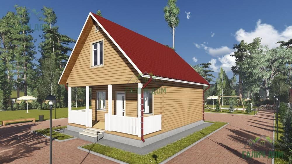Картинка (1) Брусовой дом 7х9 с террасой (ДБ-87)