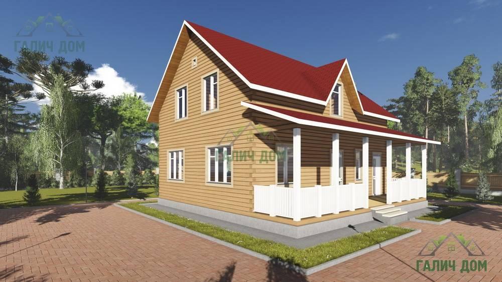 Картинка (1) Брусовой дом 10х10 с террасой (ДБ-90)