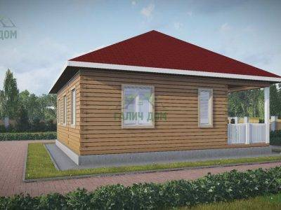 Картинка (4) Проект одноэтажного дома 9х9 (ДБ-79)