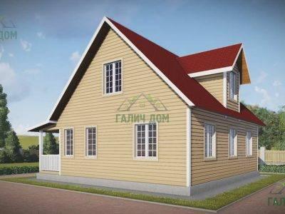 Картинка (2) Загородный дом из бруса 9 на 10 (ДБ-109)