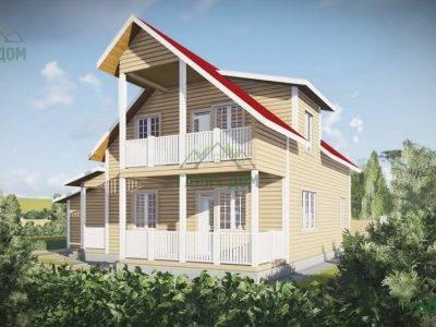 Картинка (3) Проект дома из бруса 12х13 с гаражом (ДБ-51)