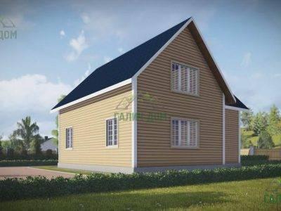 Картинка (3) Проект дома из бруса 10х10 в полтора этажа (ДБ-57)