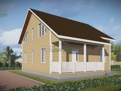 Картинка (3) Проект дачного дома из бруса 9х9 (ДБ-59)