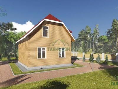 Картинка (4) Проект брусового дома 8х10 (ДБ-91)
