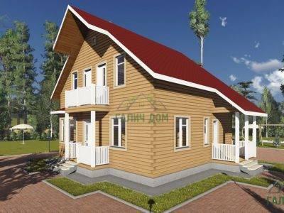 Картинка (2) Брусовой дом 9х10 (ДБ-92)