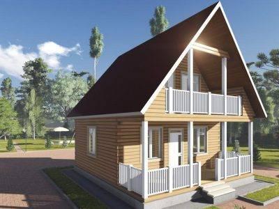 Картинка (4) Проект брусового дома 7х8 (ДБ-100)