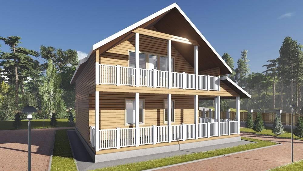 Картинка (1) Дом из бруса 10х11 с балконом (ДБ-101)