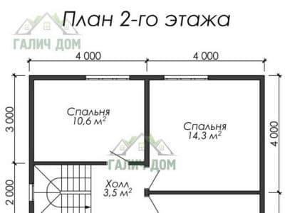 Картинка (6) Планировка 2-го этажа (ДБ-24)