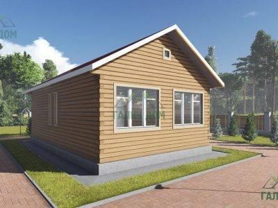 Картинка (3) Загородный одноэтажный дом 6х10 (ДБ-103)