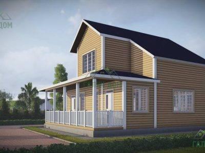 Картинка (4) Проект дачного дома из бруса 9х10 (ДБ-43)