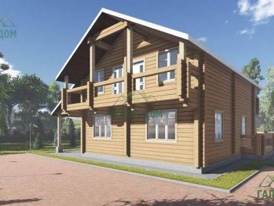 Картинка (3) Большой дом 11х14 из бруса (ДБ-105)