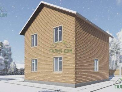 Картинка (3) Загородный дом из бруса 9 на 9 (ДБ-108)