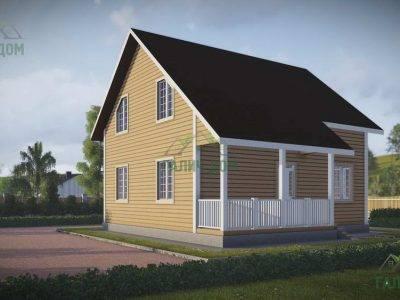 Картинка (4) Проект дачного дома из бруса 8х9 (ДБ-44)