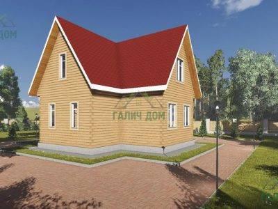 Картинка (4) Проект дома из бруса 10х11 (ДБ-17)