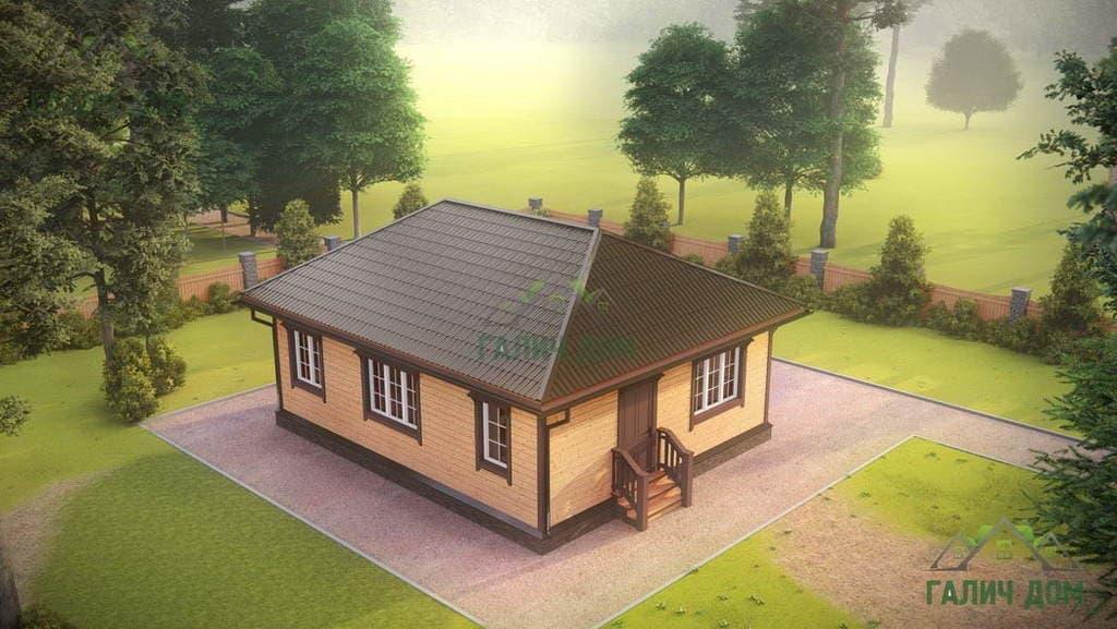Картинка (1) Одноэтажный дом из бруса 7х9 (ДБ-177)
