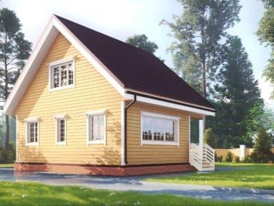 Картинка (4) Дачный дом 7х8 с мансардой (ДБ-178)