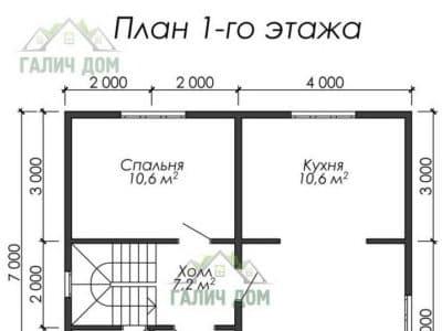 Картинка (5) Планировка 1-го этажа (ДБ-24)