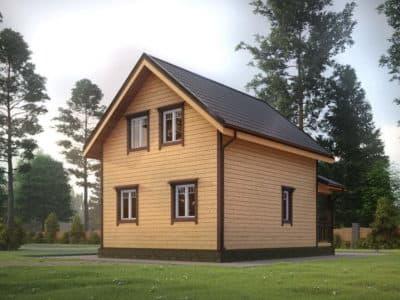Картинка (4) Проект дома из бруса 6 на 7 с крыльцом (ДБ-33)