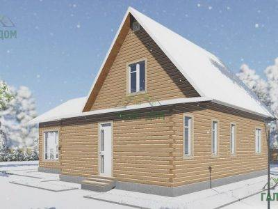 Картинка (3) Проект дома из бруса 12х13 с мансардой (ДБ-20)