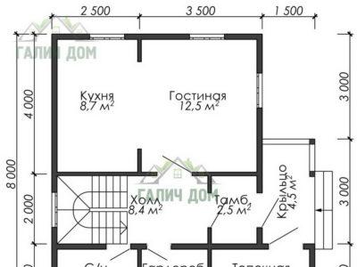 Картинка (5) План 1-го этажа (ДБ-40)