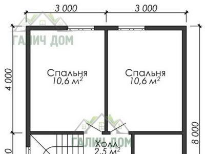 Картинка (6) План 2-го этажа ДБ-40)