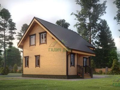 Картинка (4) Проект дома 7х8 из бруса (ДБ-40)