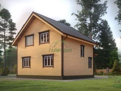 Картинка (4) Проект дома из бруса 8х8 с эркером (ДБ-24)