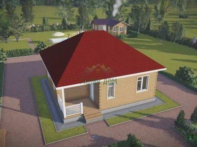 Картинка (5) Проект дома 9х9 с четырехскатной крышей (ДБ-79)