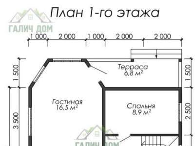Картинка (5) Планировка 1-го этажа (ДБ-25)