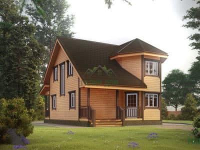 ДБ-25 | Двухэтажный дом из бруса 7х8