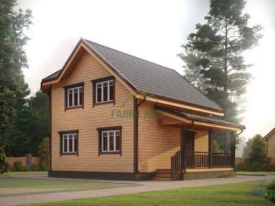Картинка (3) Проект двухэтажного дома из бруса 7х8 (ДБ-25)