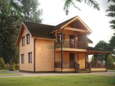ДБ-45 | Дом из профилированного бруса 9х11 с балконом