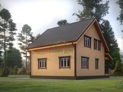 Картинка (4) Проект дома из бруса 9х9 с эркером (ДБ-26)