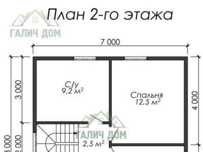 Картинка (8) Планировка 2-го этажа (ДБ-27)