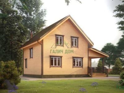 Картинка (2) Сруб дачного дома из бруса 8 на 10 (ДБ-27)