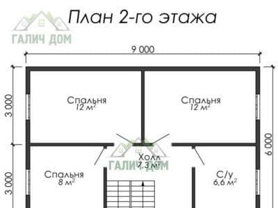 Картинка (6) План 2 этажа (ДБ-8)