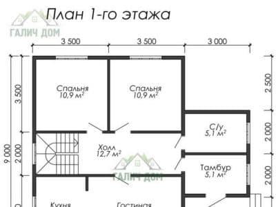 Картинка (5) Планировка 1-го этажа (ДБ-28)