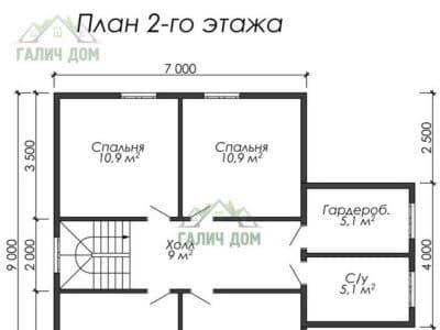 Картинка (6) Планировка 2-го этажа (ДБ-28)