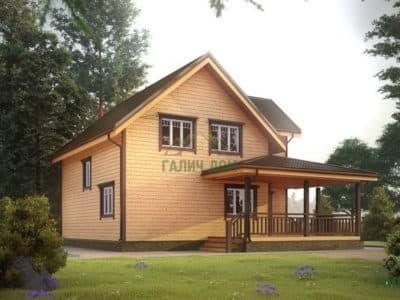 Картинка (2) Полутораэтажный дом из бруса 10 на 11 (ДБ-28)