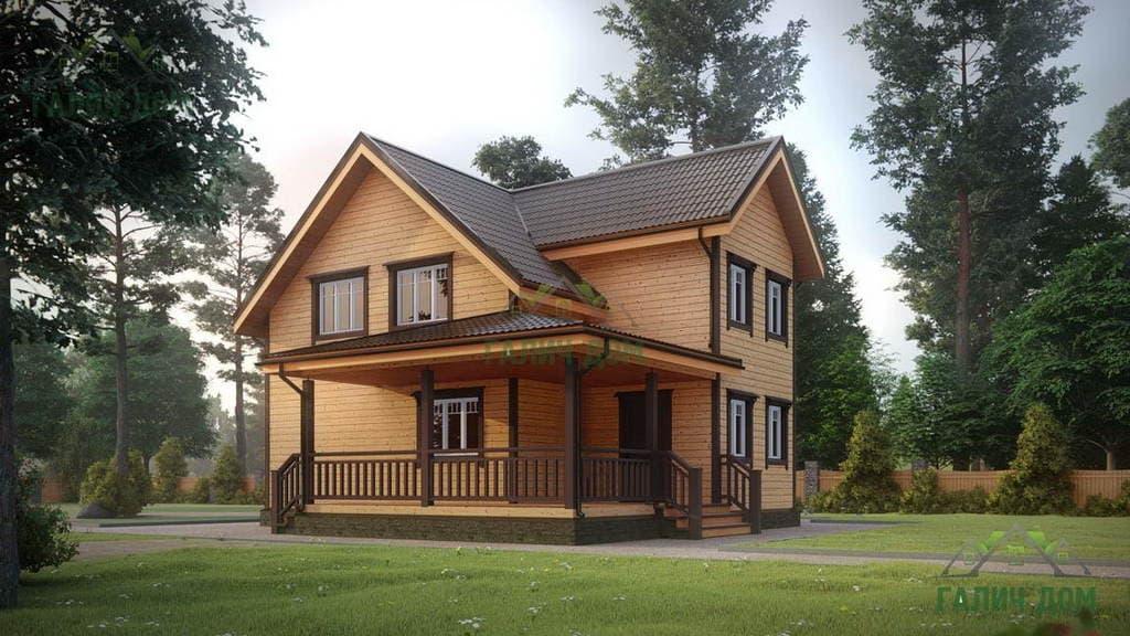 Картинка (1) Дом из бруса 10 на 11 (ДБ-28)