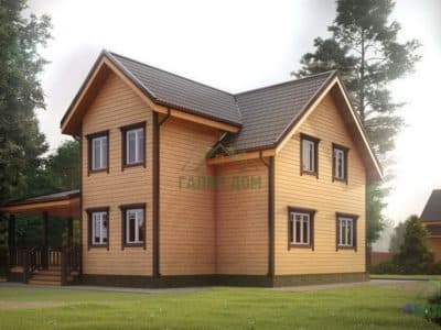 Картинка (3) Проект полутораэтажного дома из бруса 10 на 11 (ДБ-28)